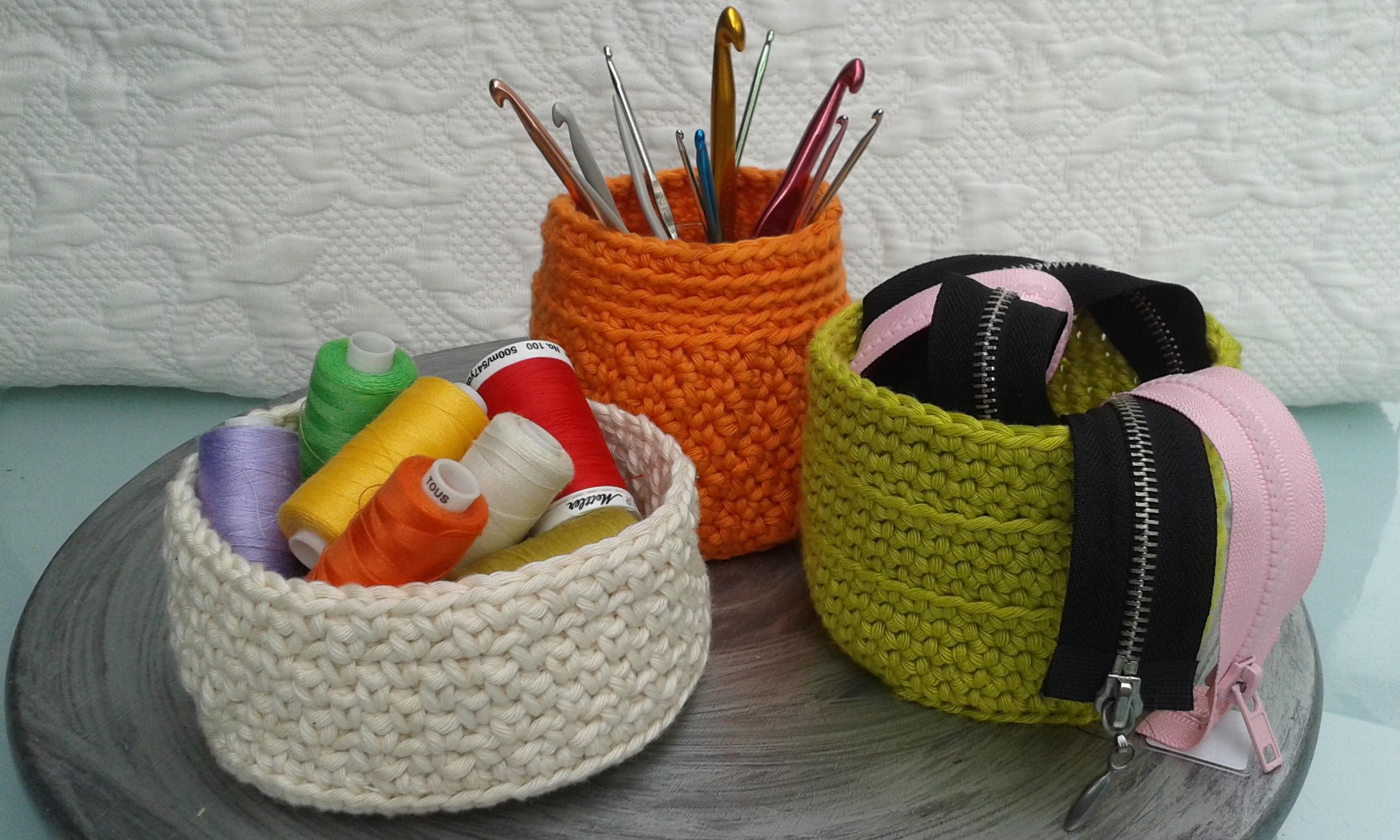 Corbeilles crochet