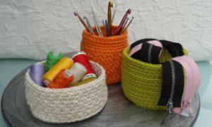 corbeilles en crochet